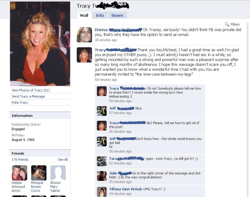 Tracy Facebook funny fail