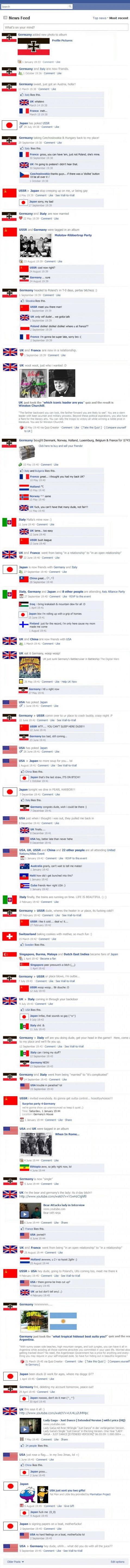 II. világháború története facebookosítva