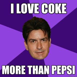 I love coke. More than pepsi.